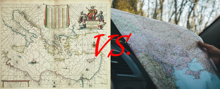 Charts vs. Maps:  A battle to the depth