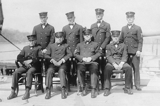 Ship's Chief Petty Officers of USS Fulton (AS-1) photographed on board the ship at the New London submarine base, New London, Connecticut, in 1919. https://commons.wikimedia.org/wiki/File:Ship%27s_Chief_Petty_Officers_of_USS_Fulton_(AS-1).jpg